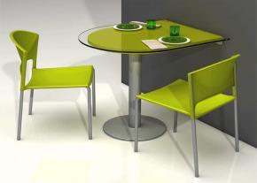 Mesa cocina cancio serie fragolina mostrador mitra - Mesas de cocina pequenas plegables ...