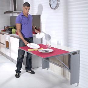 Mesa cocina cancio serie radia mesa plegable mitra for Mesa abatible pared cocina
