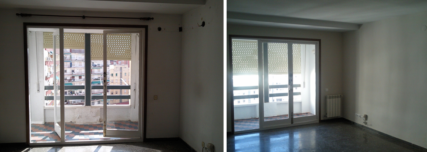 Reforma piso de alquiler mitra llartarragona reformas integrales del hogar cocina y ba os - Reforma piso pequeno antes y despues ...